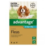 Advantage For Dogs 4-10kg Pkt 4
