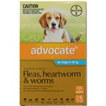 Advocate For Dogs 4-10kg Pk 6
