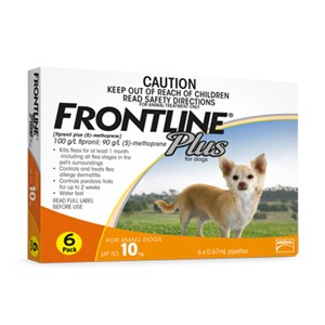 Frontline plus 6 Month Orange up to 10kg