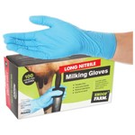 Milking Gloves Long Nitrile Large 100pk