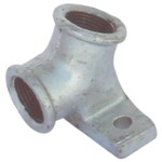 Water Nipple Bracket Galv 20mm 30deg