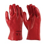 Glove Chemical Short 27cm PVC Red size 10 Techware