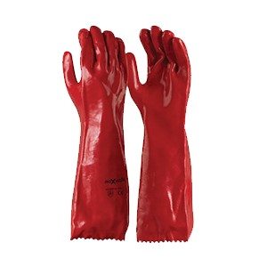 Glove 45cm PVC Chemical Red size 10 Techware