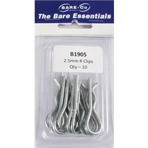 Bare essentials 2.5mm R clip 10 pack Bare Co