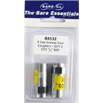 "Bare essentials 1/8"" 4 jaw grease gun coupler x2 Bare Co"