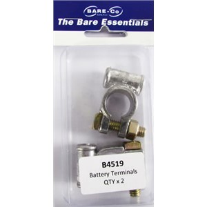 Bare essentials battery terminals x2 Bare Co