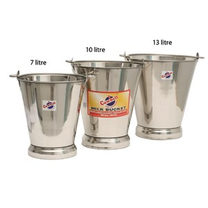 Bucket Stainless Cowbell 7 L