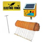 Electric Poultry Netting Kit w/ Solar Energiser Thunderbird