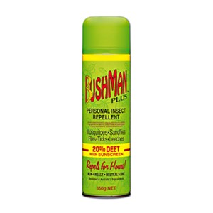 Bushman Plus Personal Insect Repellent with Sunscreen Aerosol 350g