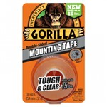 Gorilla Mounting Tape Clear 25.4 x 1.52m