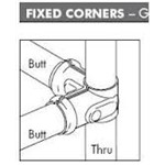 Fixed Corner 32 Butt x 32 Thru Packaged