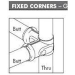 Fixed Corner 25 Butt x 25 Thru Packaged