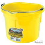 Feed Bucket Flat Back 19L Yellow Shoof